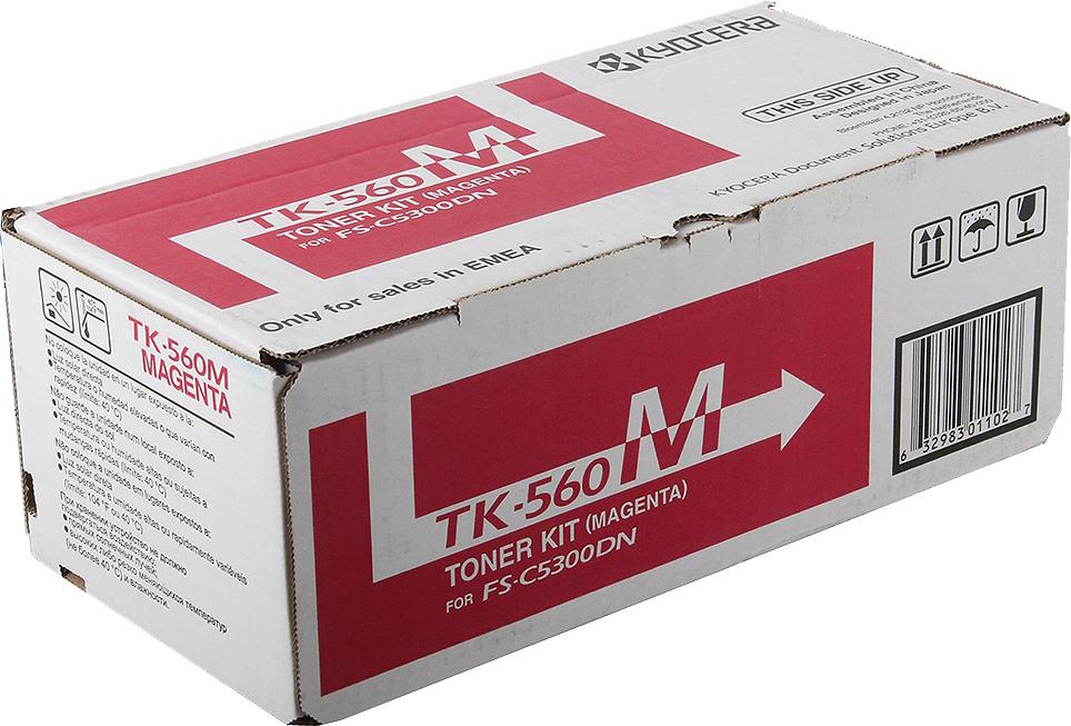 Картридж Kyocera TK-560M, пурпурный, для лазерного принтера все цены