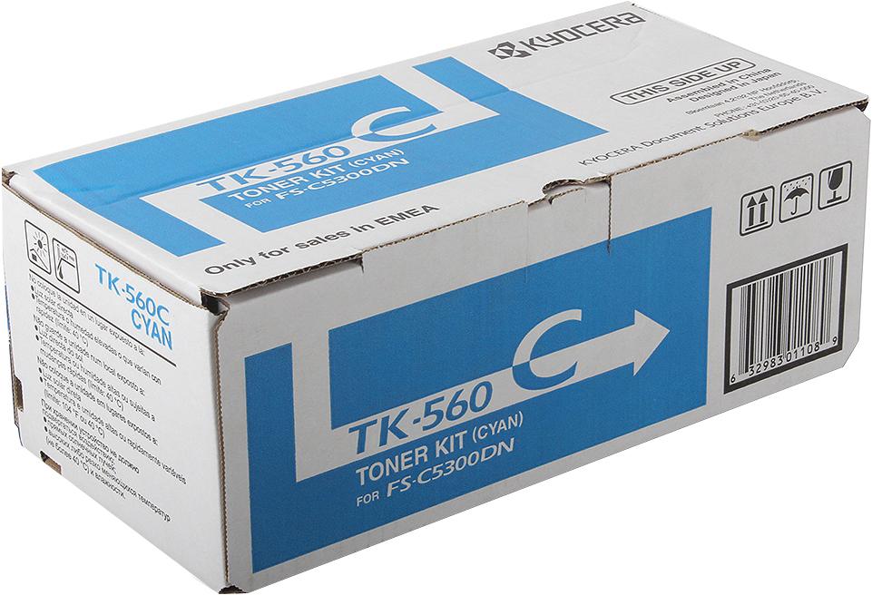 Картридж Kyocera TK-560C, голубой, для лазерного принтера