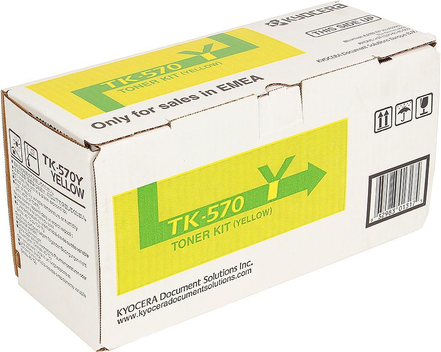 Картридж Kyocera TK-570Y, желтый, для лазерного принтера