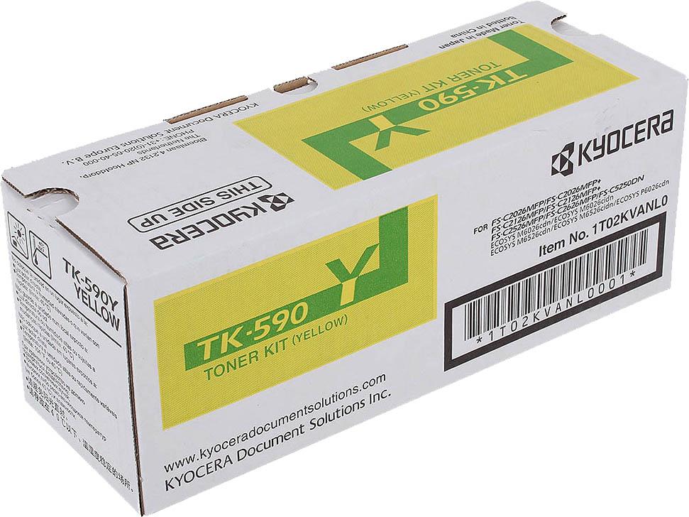 Картридж Kyocera TK-590Y, желтый, для лазерного принтера