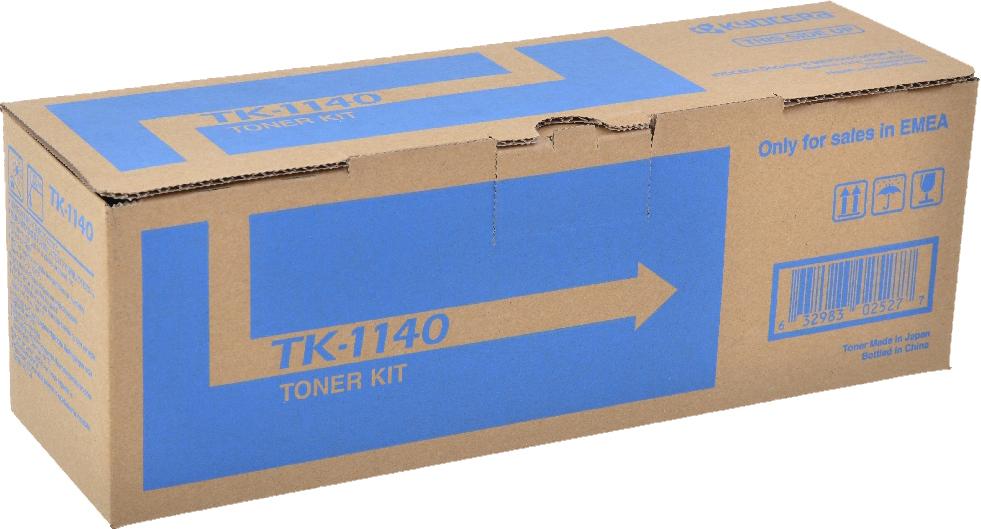 Картридж Kyocera TK-1140, черный, для лазерного принтера тонер cactus tk 1140