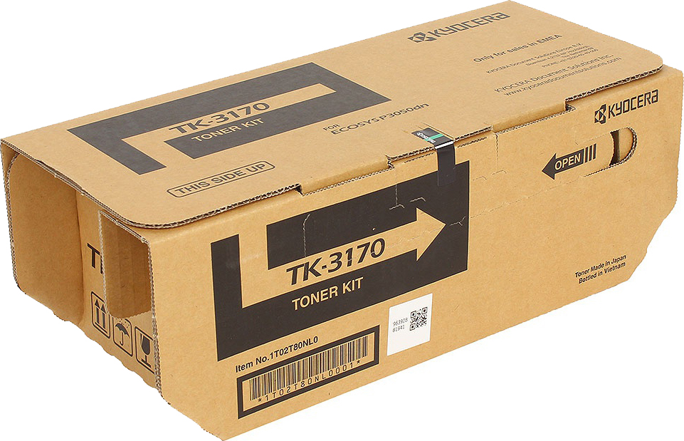 Картридж Kyocera TK-3170, черный, для лазерного принтера