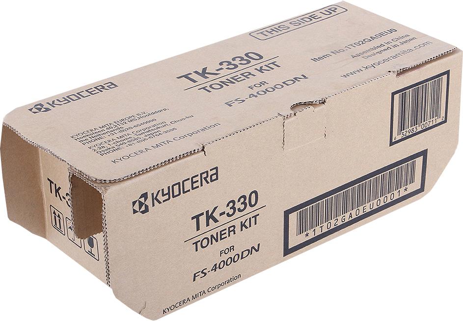 Картридж Kyocera TK-330, черный, для лазерного принтера тонер kyocera tk 330 для fs 4000dn чёрный 20000 страниц