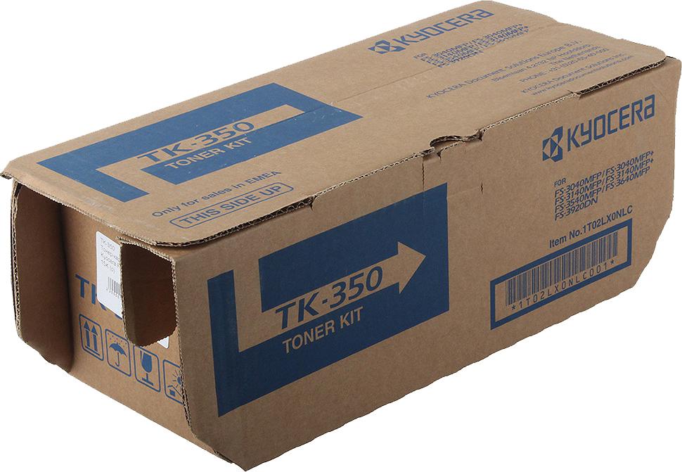 Картридж Kyocera TK-350B/350, черный, для лазерного принтера тонер kyocera tk 330 для fs 4000dn чёрный 20000 страниц