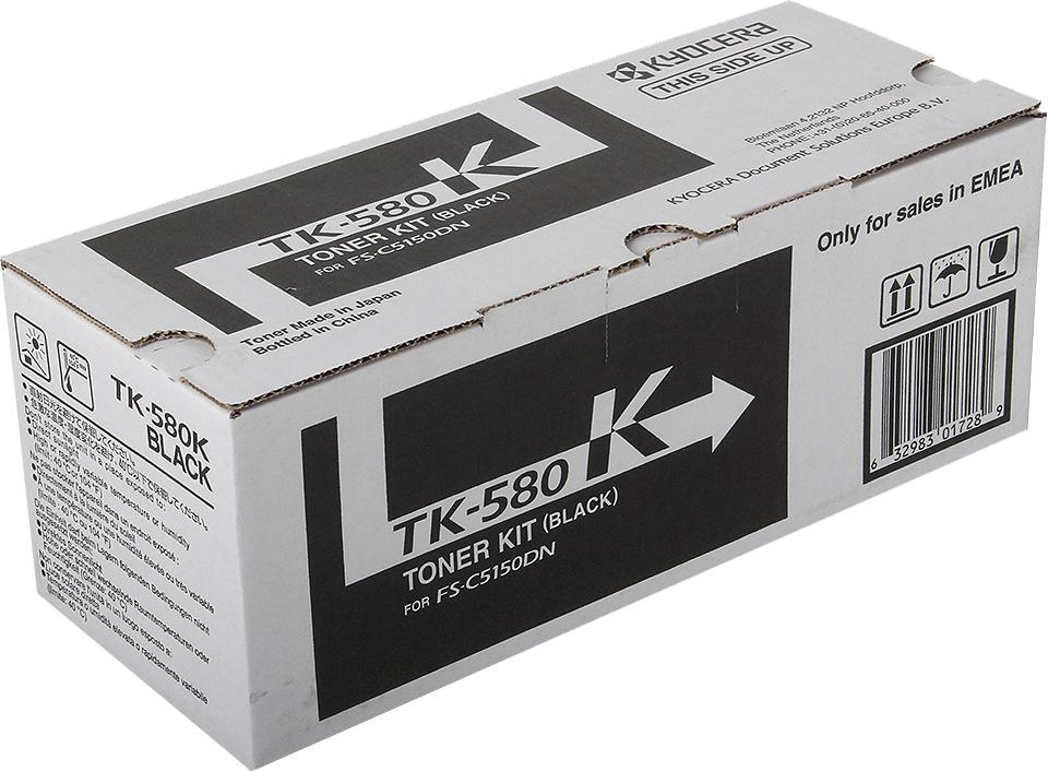 Картридж Kyocera TK-580Bk, черный, для лазерного принтера все цены