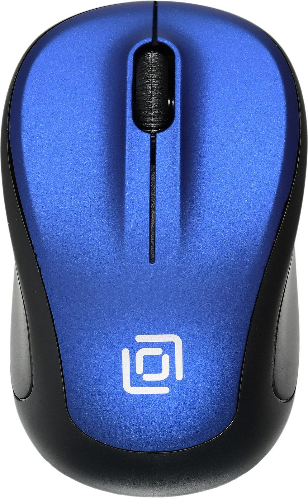 Мышь Oklick 665MW, черный, синий цена