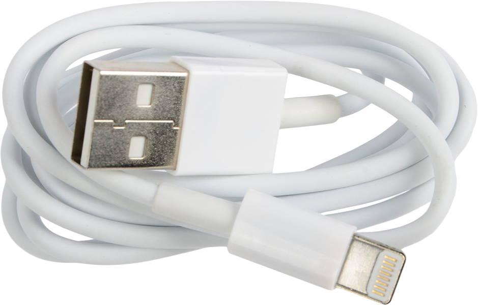 Кабель Ritmix RCC-120 Lightning 8pin-USB, 1 м, white