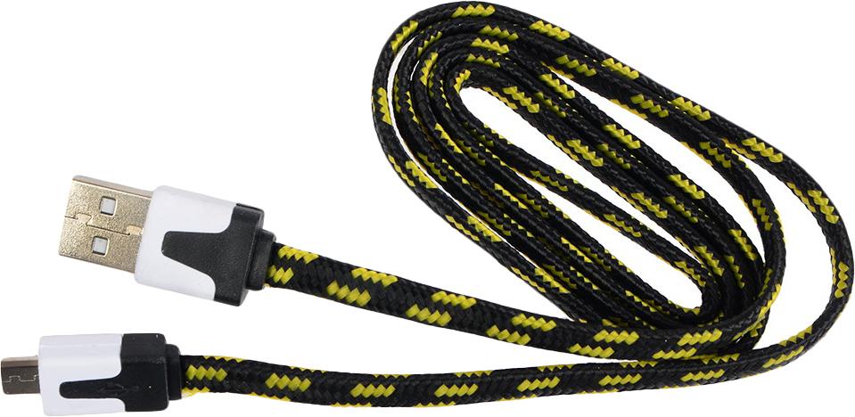 Кабель Ritmix MicroUSB-USB RCC-211, 1 м, black baseus 5 in 1 1 м ca5in1 01 кабель microusb lightning usb c black