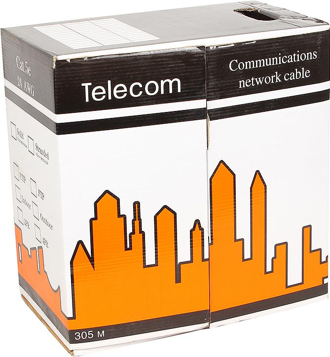 Кабель Telecom UTP LSZH, 305 м кабель telecom ultra pro utp кат 6 бухта 305м tu634057 омедненный