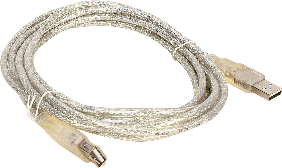 цена на Кабель удлинительный VCOM USB2.0 AM/AF, VUS6936-3MTP, 3 м