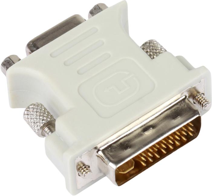 Адаптер-переходник VCOM DVI-I - VGA(15F), VAD7817 переходник buro dvi i m vga f vga 15f dvi i plug