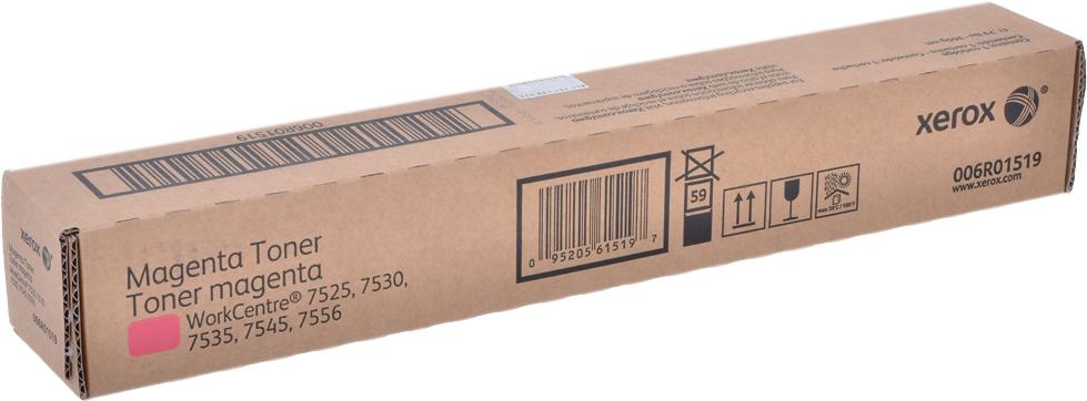 Картридж Xerox 006R01519 для WC 78XX/75XX. Пурпурный. 15000 страниц. тонер картридж xerox 006r01517 black 26000 стр для wc 75xx