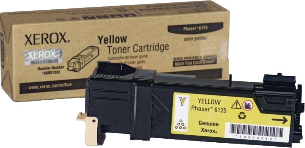 Картридж Xerox 106R01337, желтый, для лазерного принтера, оригинал
