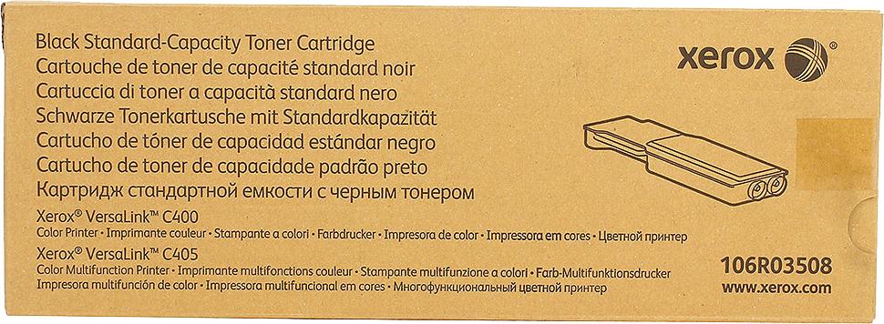 Картридж Xerox 106R03508, черный, для лазерного принтера, оригинал картридж xerox 013r00621 черный оригинал