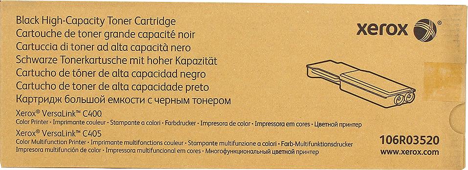Картридж Xerox 106R03520, черный, для лазерного принтера, оригинал картридж xerox 013r00621 черный оригинал