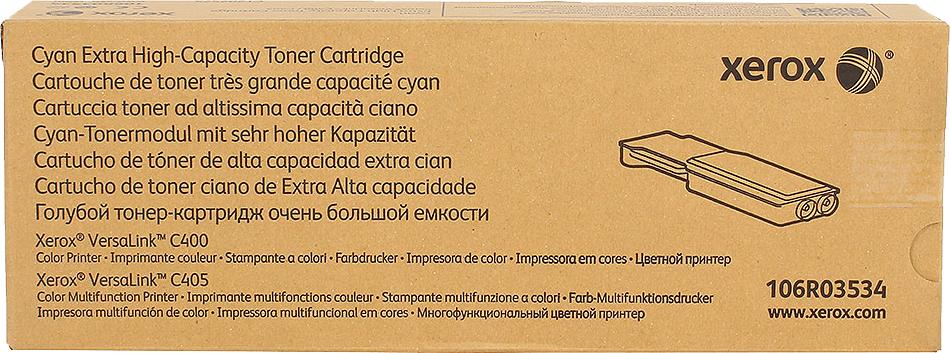 Картридж Xerox 106R03534 голубой (cyan) 8000 стр. для Xerox VersaLink C400/405 xerox 113r00689