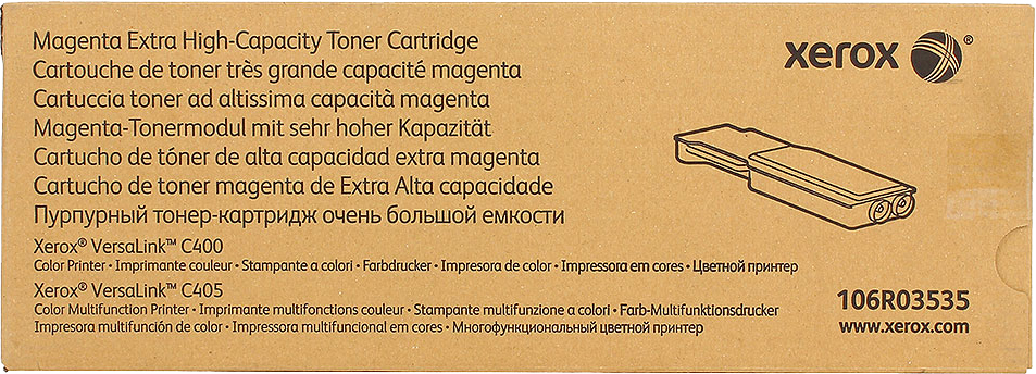 Картридж Xerox 106R03535 пурпурный (magenta) 8000 стр. для Xerox VersaLink C400/405 картридж xerox 106r03523 для versalink c400 c405 пурпурный 4800стр