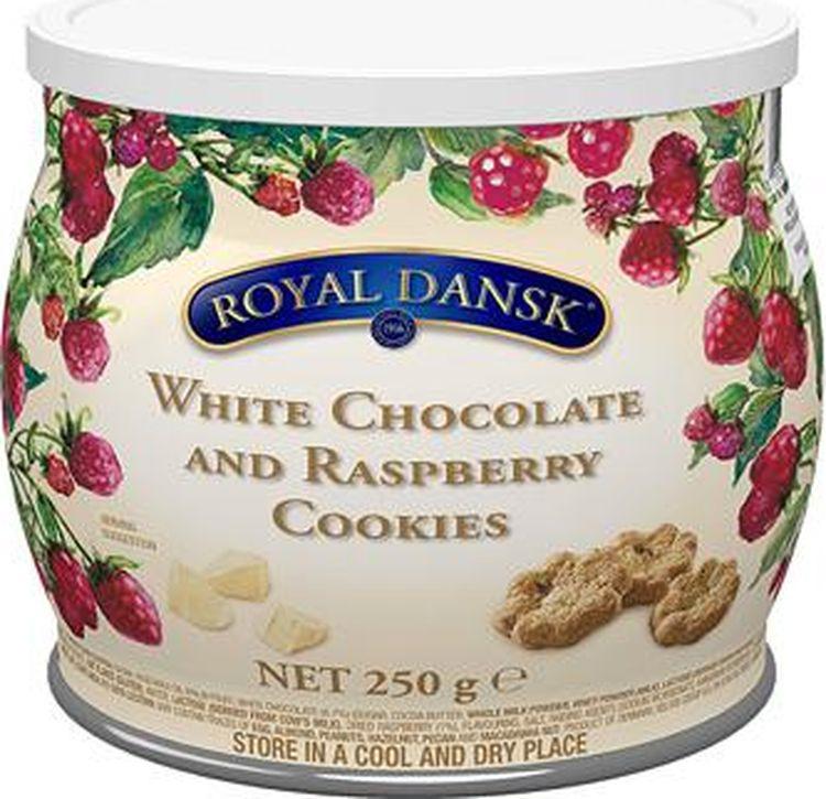 Печенье Kelsen Royal Dansk песочное с белым шоколадом и малиной, 250 г сладкий новогодний подарок тройка 800 г