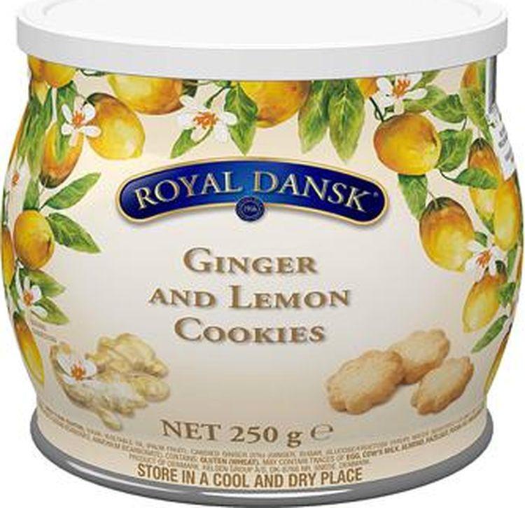 Печенье Kelsen Royal Dansk песочное с имбирем и лимоном, 250 г
