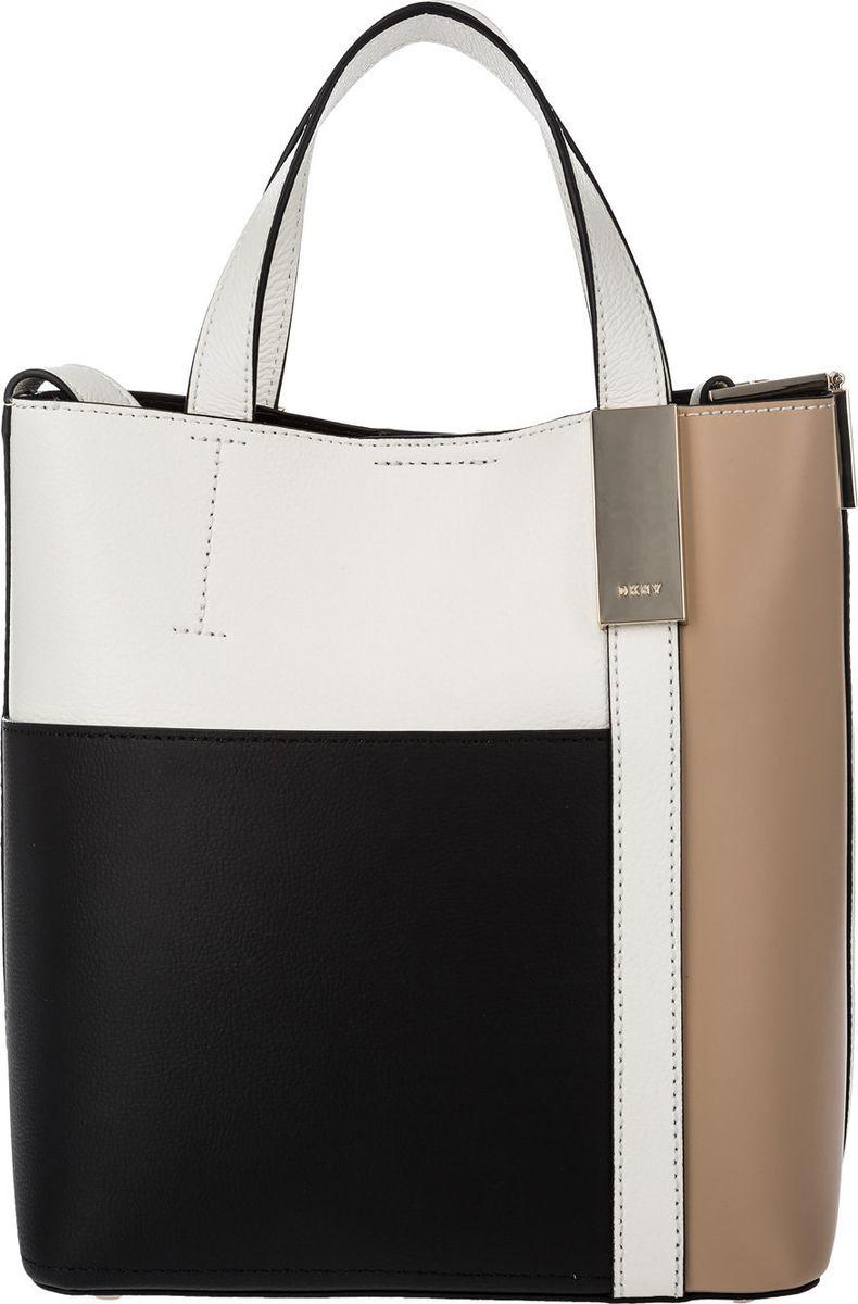 Сумка женская DKNY, R82BY496/BOO, черный, белый, бежевый