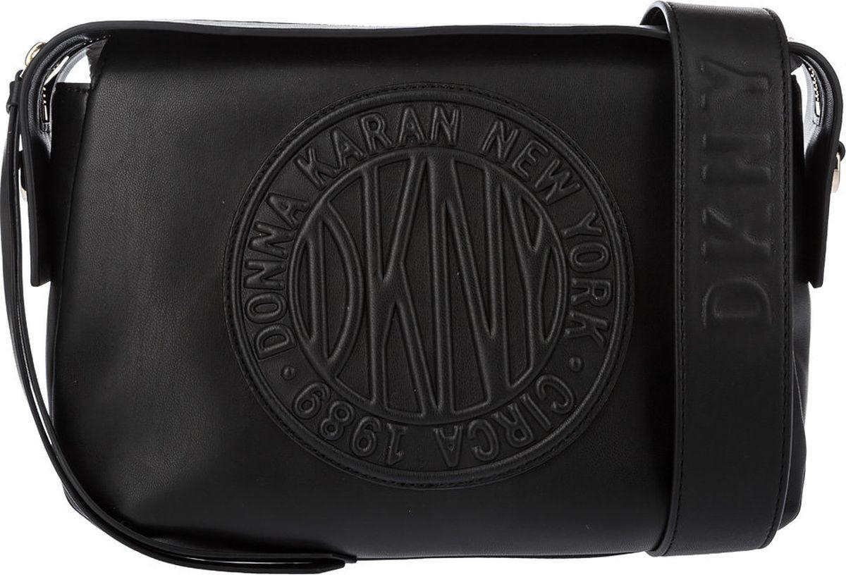 Фото - Сумка на плечо DKNY fendi черная кожаная сумка с логотипом