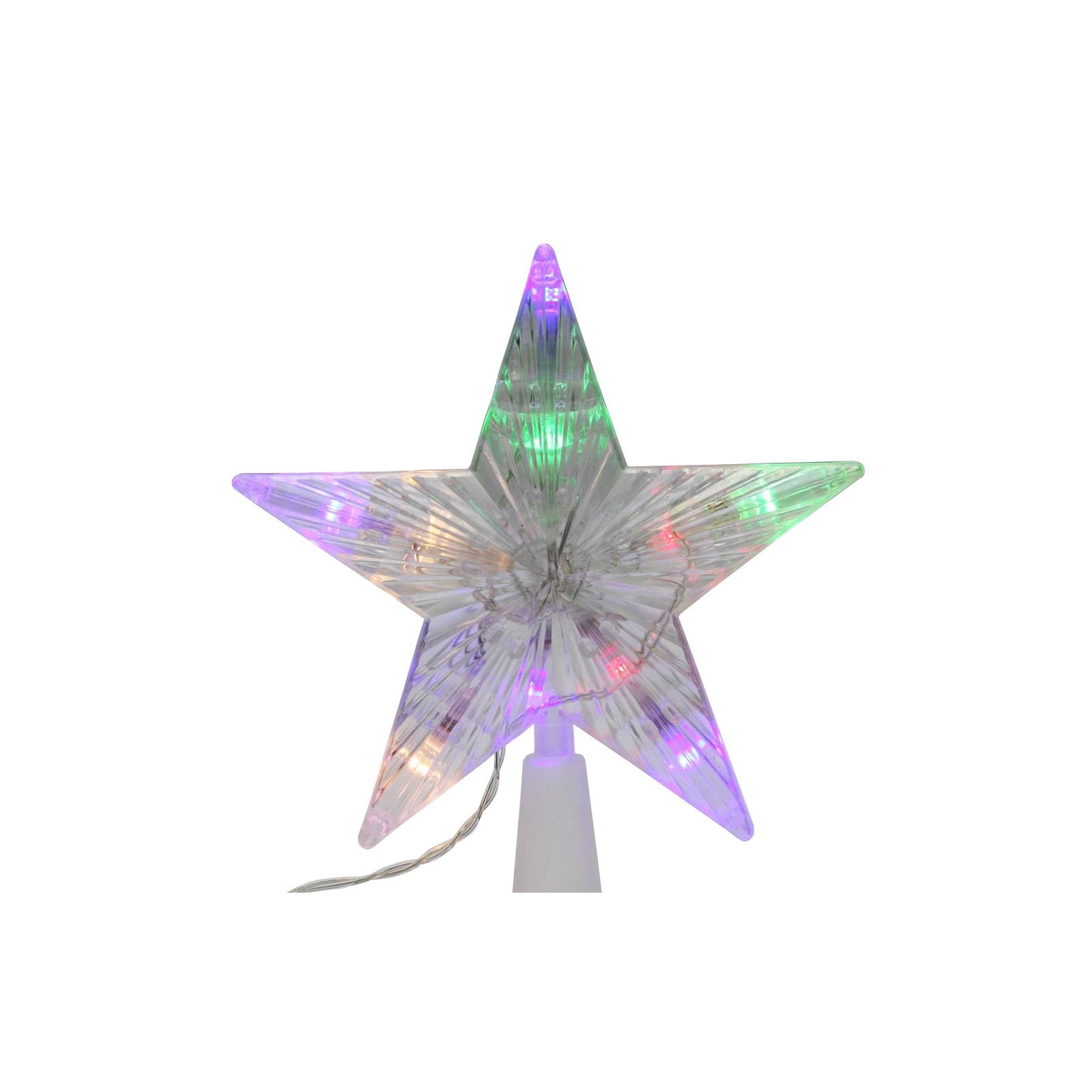 Звезда светодиодная, 220В, высота - 17,5 см,длина шнура 3м, мульти цвет.15-43Энергосберегающая звезда для украшения елки. Длина шнура 3м, постоянное свечение - Красный / Синий/ Зеленый. Бесперебойная работа от 180В до 240В.