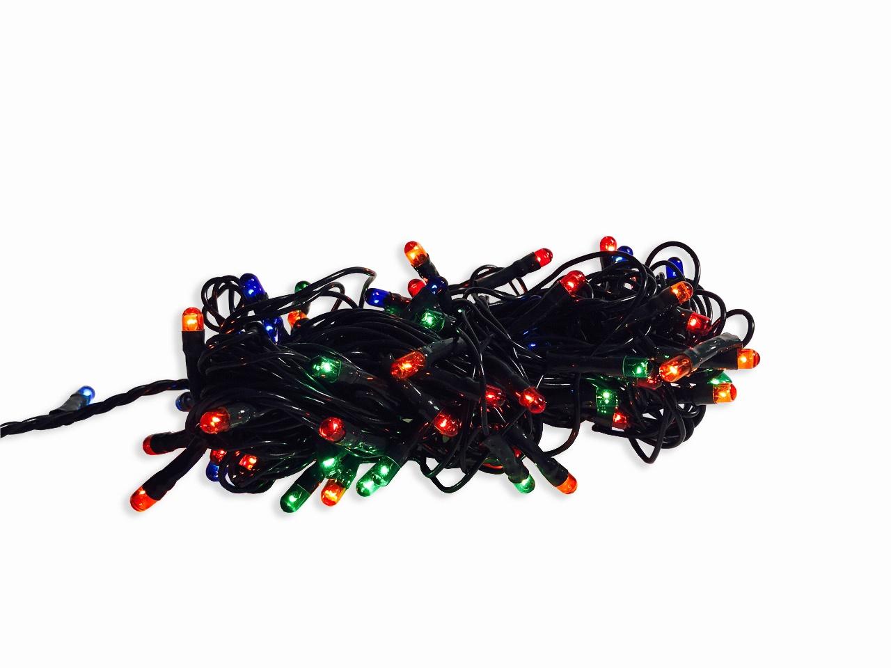 Электрическая гирлянда APEYRON electrics 15-23, 3,5м, 50 микро-ламп, 8 режимов, зеленый шнур, мульти цвет. электрическая гирлянда светодиодная apeyron бумажная 10ламп теплый белый 1 5м