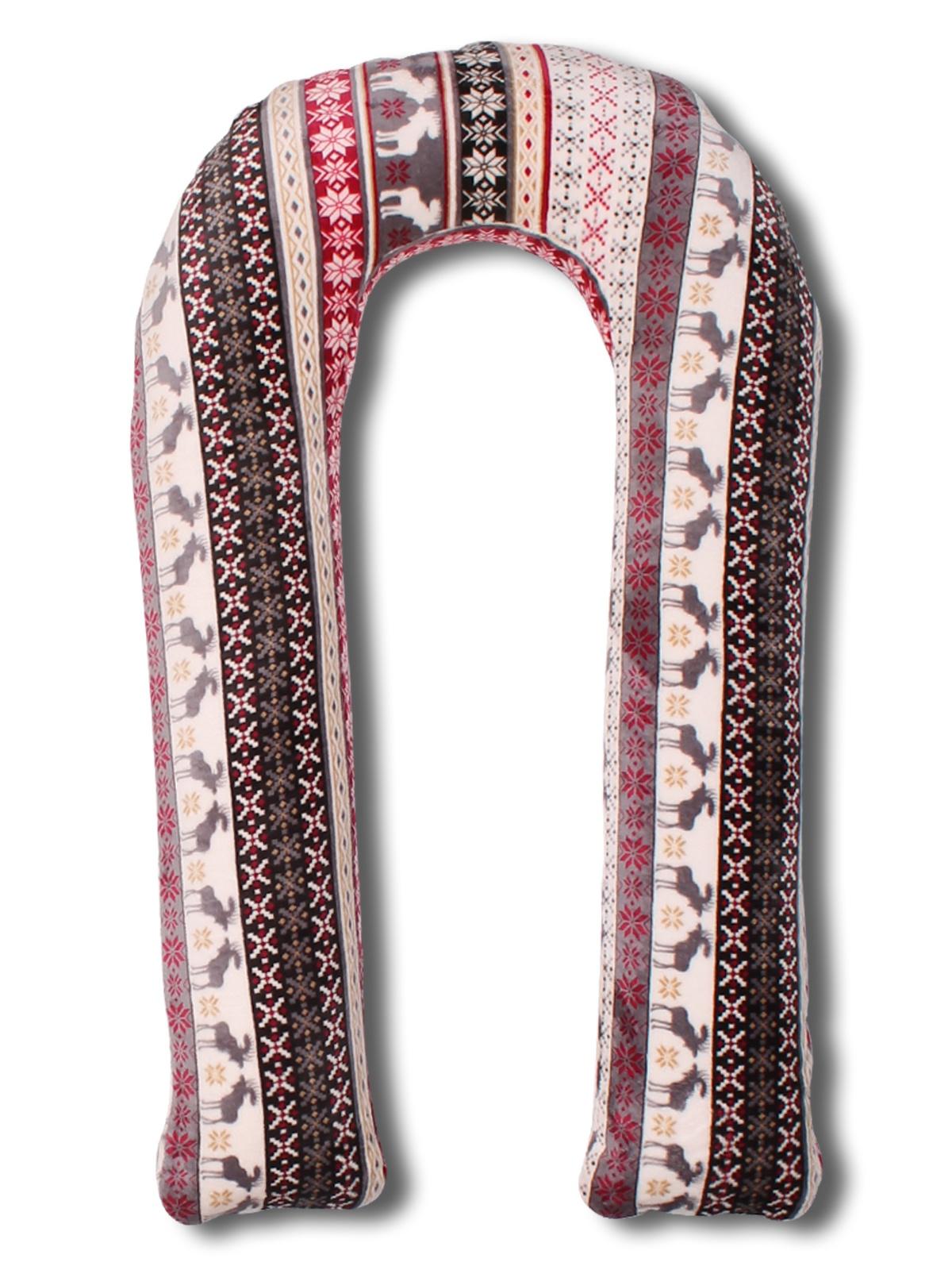 Подушка U 90х150 холлофайбер + чехол велсофт зима чехол на изголовье кровати из стиранного льна mereson