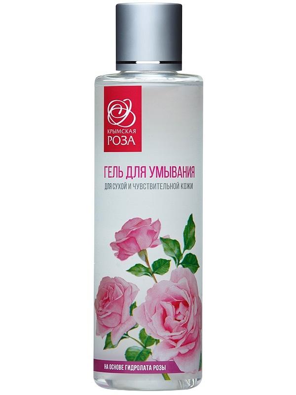 Гель для умывания для сухой и чувствительной  кожи, 200 мл Крымская роза