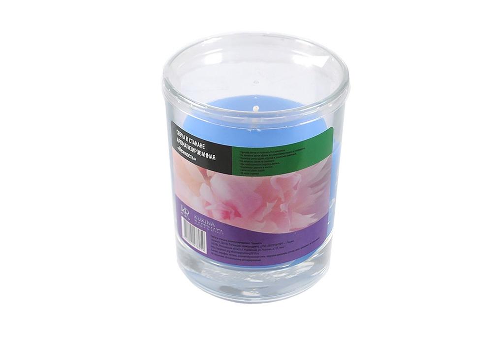Свеча ароматизированная Kukina Raffinata Свеча в стакане ароматизированная Нежность свеча ароматизированная cv tample lights в кокосе с ароматом цитронеллы