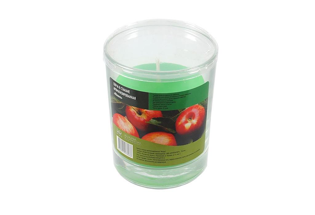 Свеча ароматизированная Kukina Raffinata Свеча в стакане ароматизированная Яблоко свеча ароматизированная cv tample lights в кокосе с ароматом цитронеллы