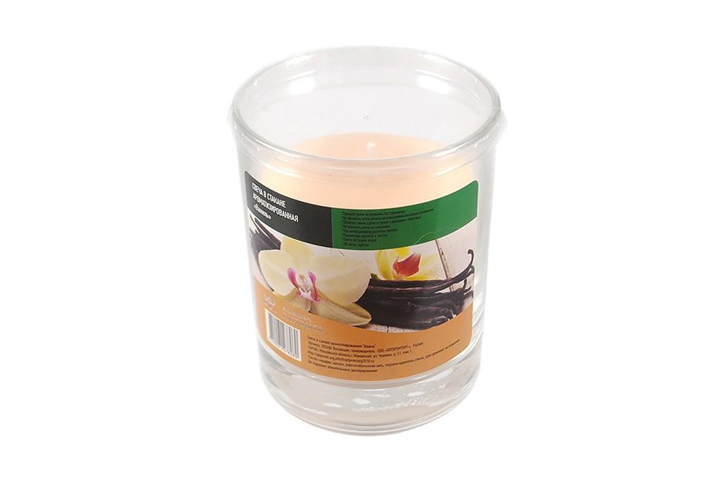 Свеча ароматизированная Kukina Raffinata Свеча в стакане ароматизированная Ваниль свеча ароматизированная cv tample lights в кокосе с ароматом цитронеллы