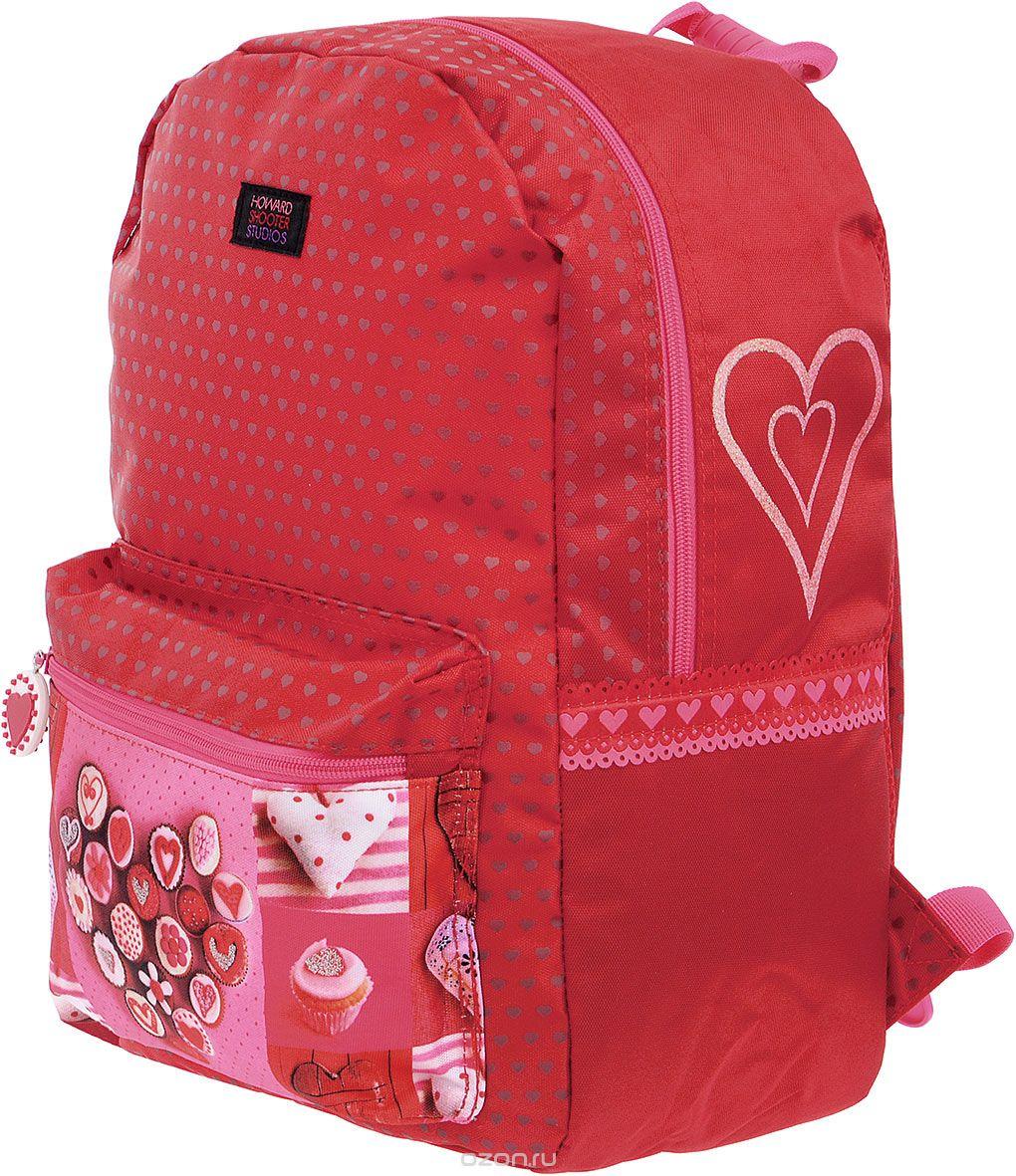 Рюкзак школьный Proff Hearts, HS16-BP-01 ранец школьный для мальчика proff vs16 bp 08 черный