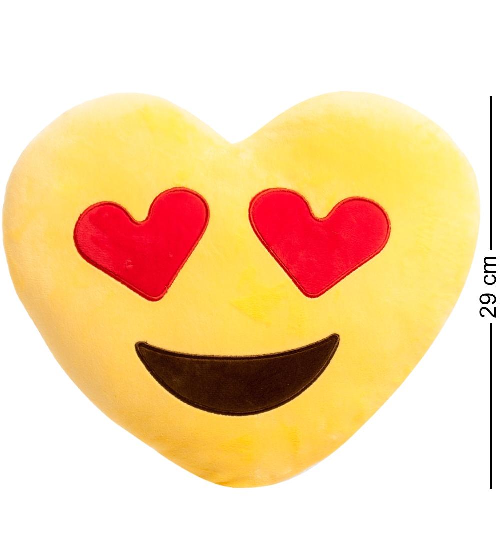 Подушка-сердце Lovely Joy Смайлик Любовь EK-01, 25237, желтый