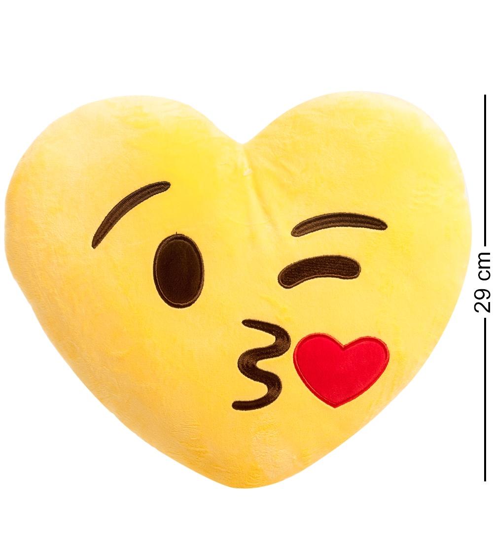 Подушка-сердце Lovely Joy Смайлик Поцелуй EK-02, 25238, желтый25238EK-02 Подушка-сердце ''Смайлик Поцелуй''