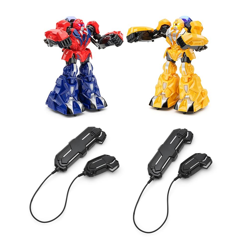 Игрушка радиоуправляемая FindusToys Битва роботов, FD-18-039, желтый, синий, красный игра настольная findustoys не урони пингвина fd 18 040