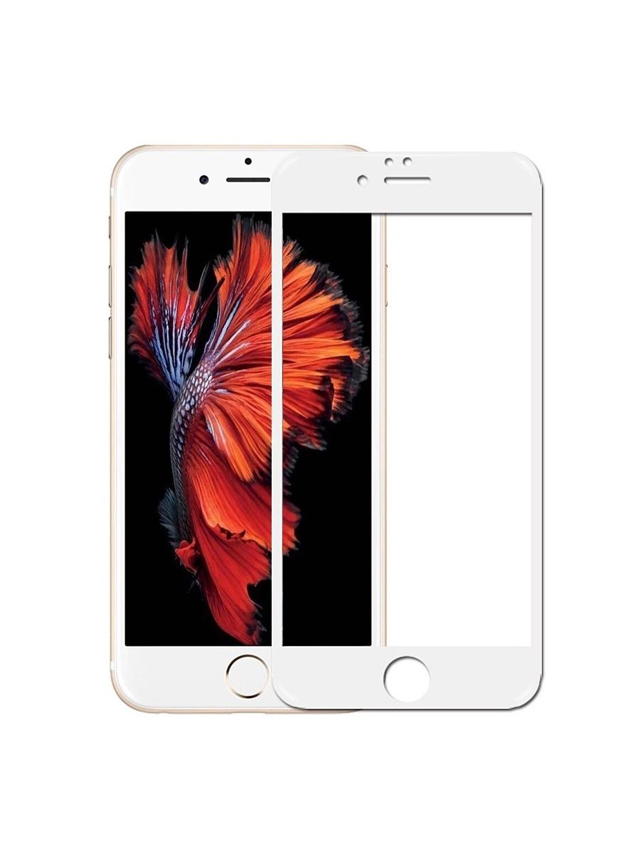 Защитное стекло YOHO для iPhone 6/6S на полный экран 5D Full Screen, белый