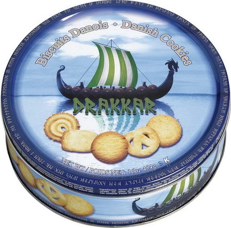 Печенье Kelsen Drakkar Viking сливочное, 454 г сладкий новогодний подарок тройка 800 г