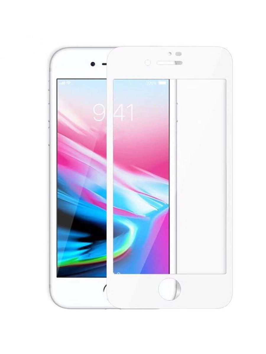 Защитное стекло для iPhone 7/8 на полный экран 5D Full Screen. Белое защитное стекло для iphone 7 8 на полный экран 5d full screen черное