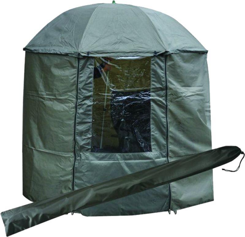 Зонт рыболовный Tramp, с пологом, TRF-045, зеленый, высота 200 см