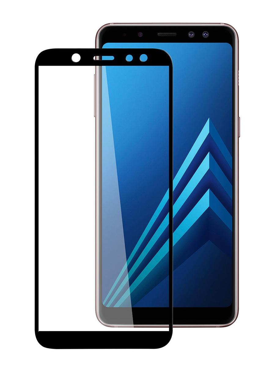 Защитное стекло для Samsung Galaxy A6 на полный экран 5D Full Screen. Черное аксессуар защитное стекло samsung galaxy s8 gecko 5d 0 26mm gold zs26 gsgs8 5d gold