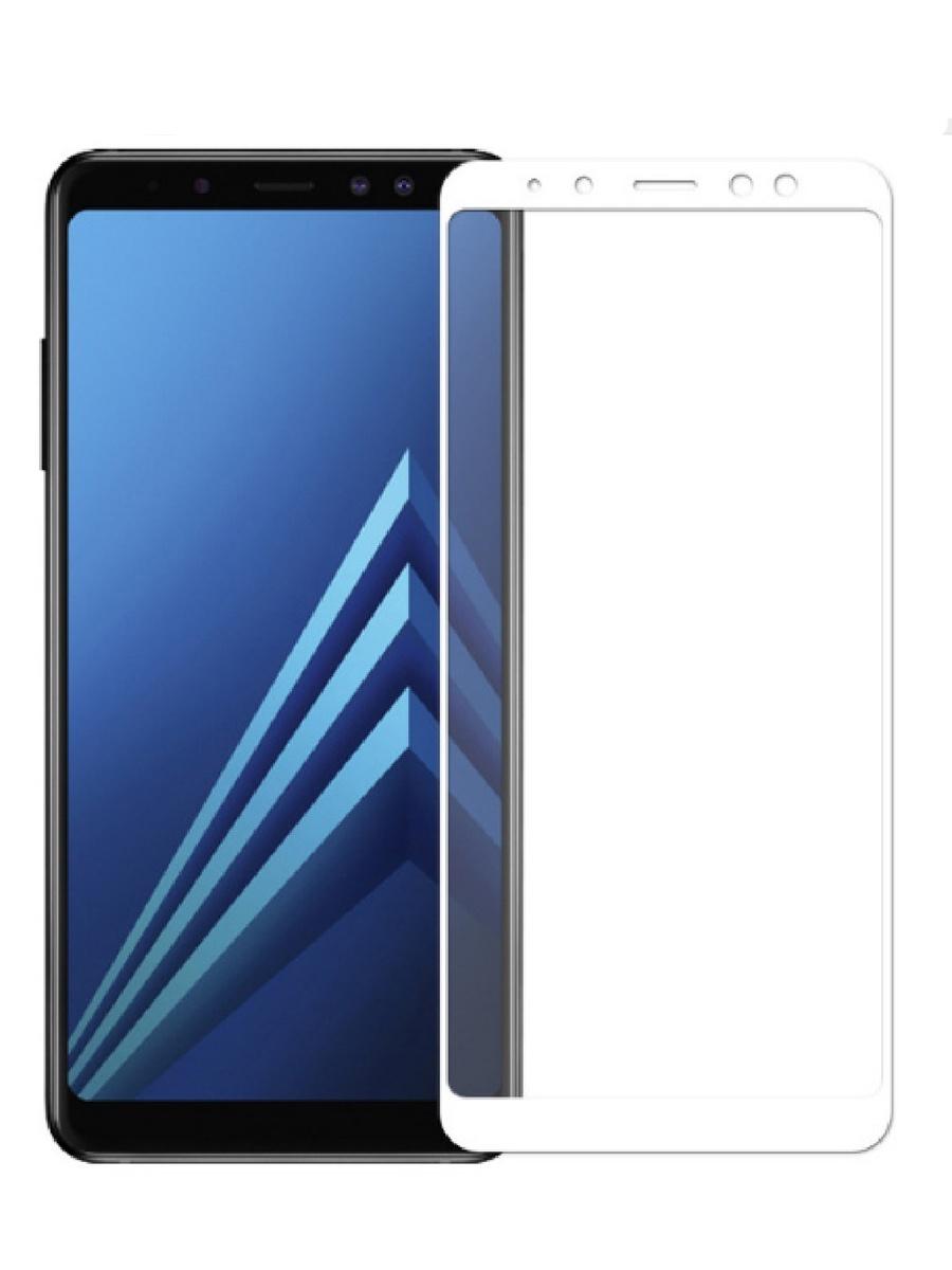 Защитное стекло для Samsung Galaxy A6 на полный экран 5D Full Screen. Белое аксессуар защитное стекло samsung galaxy s8 gecko 5d 0 26mm gold zs26 gsgs8 5d gold