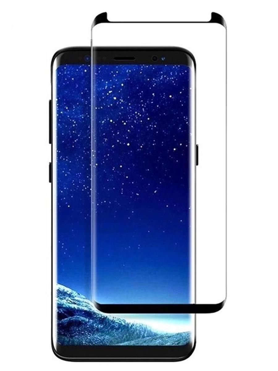 Защитное стекло для Samsung Galaxy S8 Plus на полный экран 5D Full Screen. Черное аксессуар защитное стекло samsung galaxy s8 gecko 5d 0 26mm gold zs26 gsgs8 5d gold