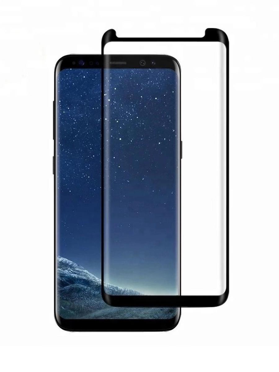 Защитное стекло для Samsung Galaxy S8 на полный экран 5D Full Screen. Черное аксессуар защитное стекло samsung galaxy s8 gecko 5d 0 26mm gold zs26 gsgs8 5d gold