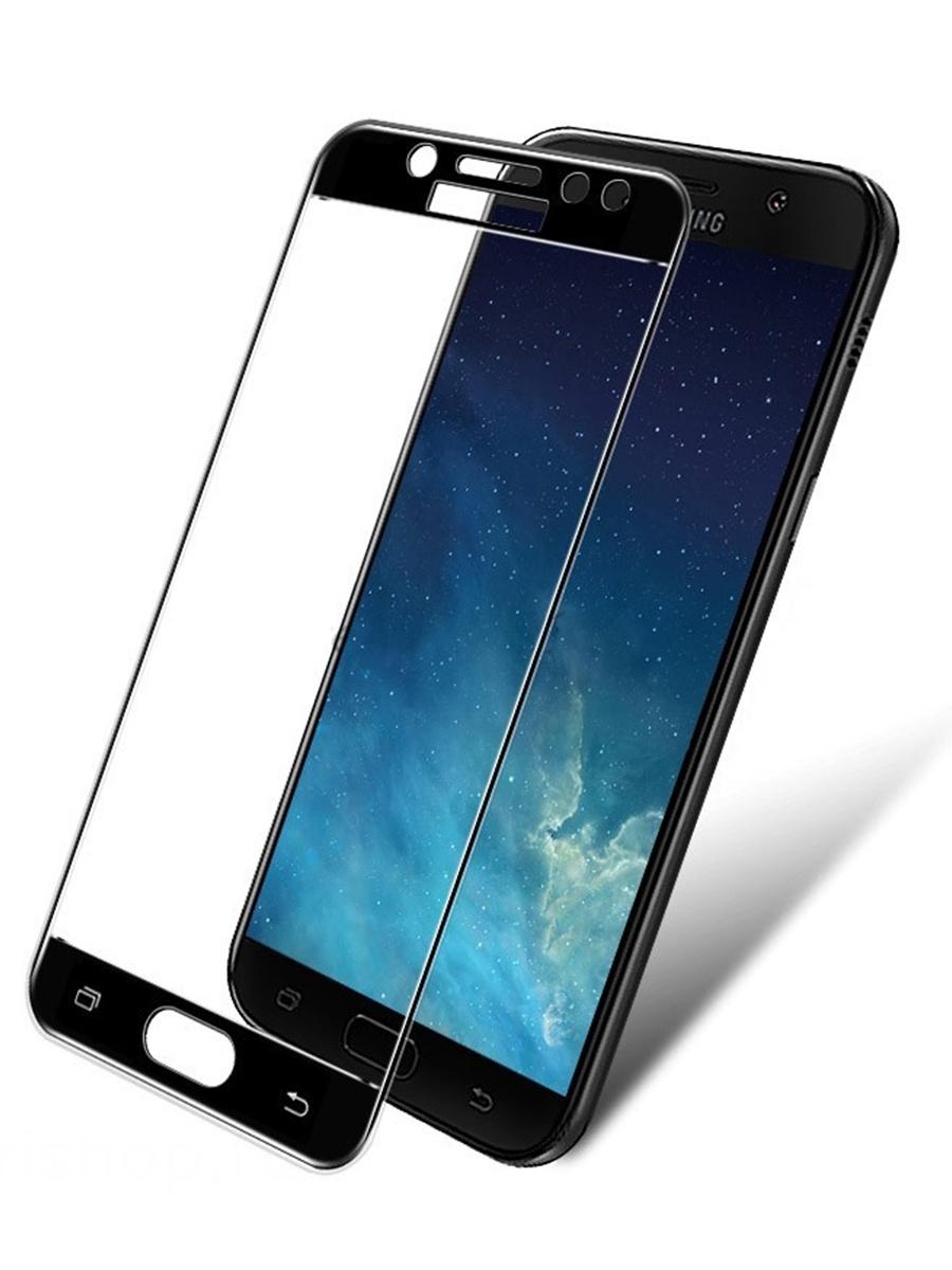 Защитное стекло для Samsung Galaxy J7 (2017) на полный экран 5D Full Screen. Черное