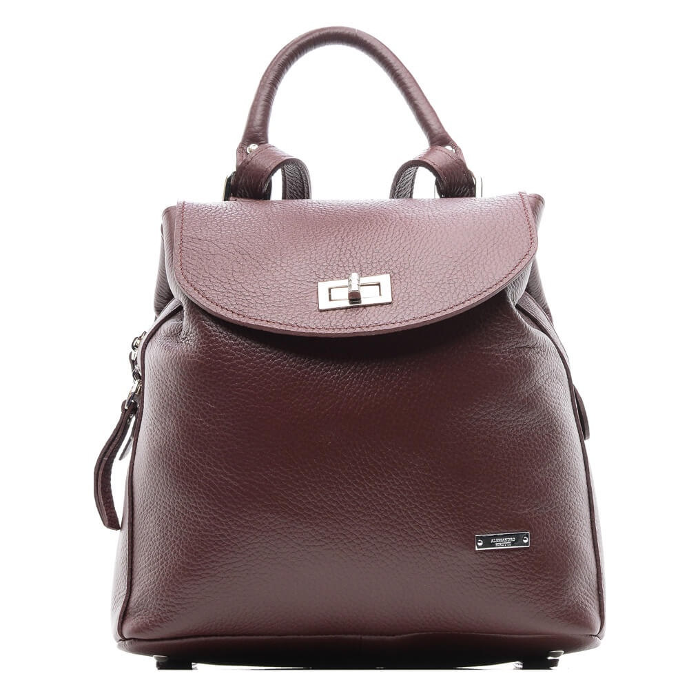 Рюкзак женский Alessandro Birutti, 0183/бордо, бордовый nabe как прохладно nb плеча сумку женщин моды тенденции дамы рюкзак многофункциональный износостойкой женской сумке nb239 классический черный