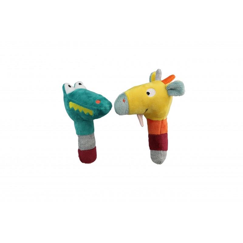 Мягкая игрушка Ebulobo Маракасы. Крокодильчик и Жирафик, E80016 музыкальные игрушки meinl маракасы деревянные nino7pd b