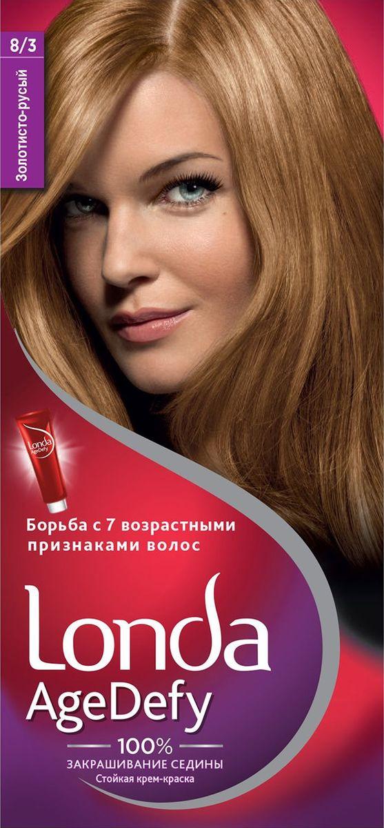 Крем-краска для волос Londa Age Defy стойкая, 8/3 золотисто-русый