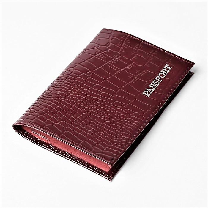 Обложка для паспорта женская Snow, OZ41, бордовый обложка для паспорта женская paulo villar цвет бордовый 00057539