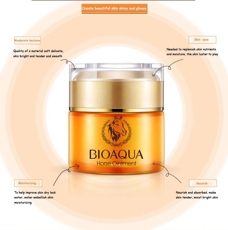 Крем для лица Bioaqua, увлажняющий, с лошадиным маслом и гиалуроновой кислотой, 50 г Bioaqua